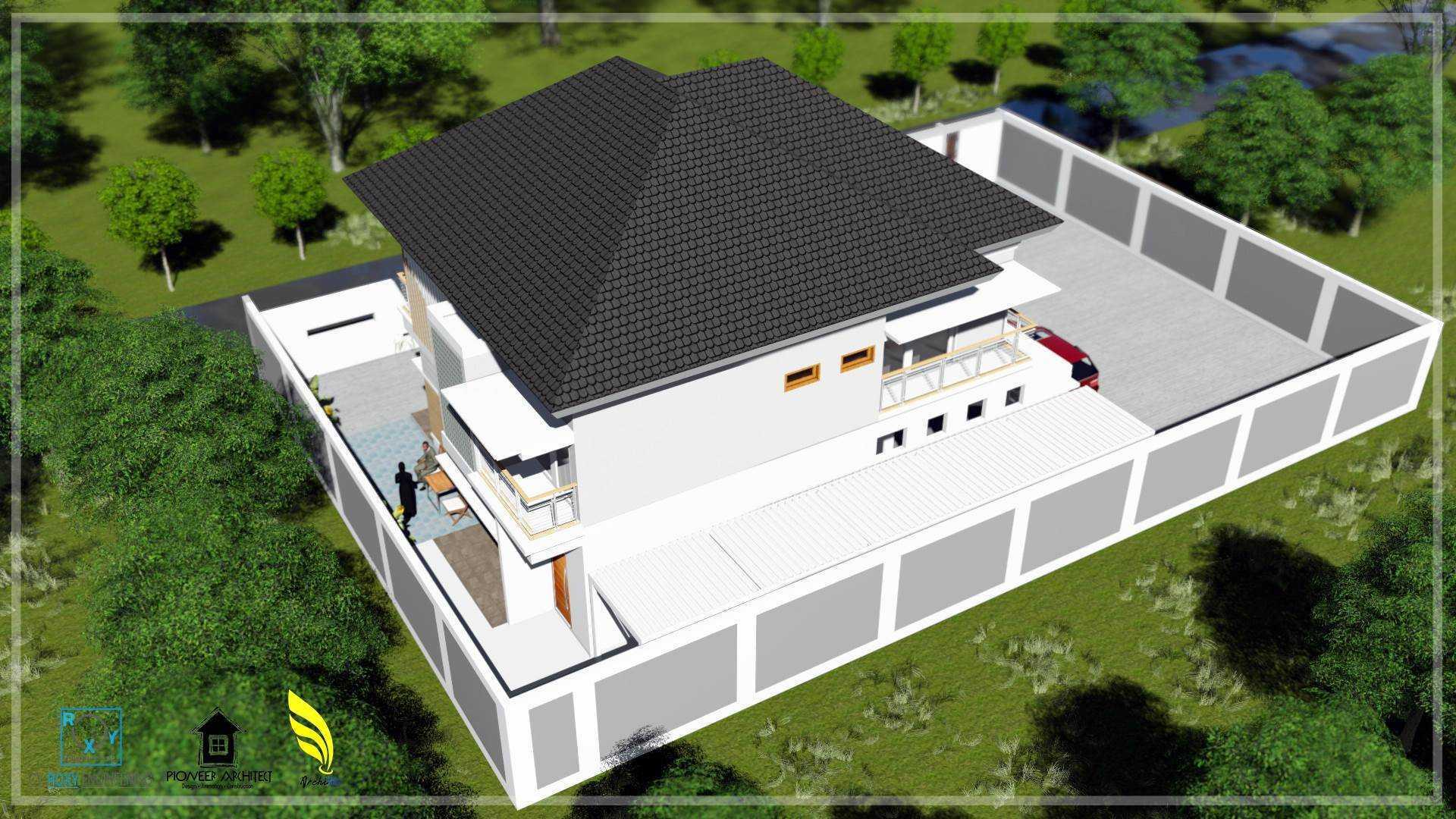 Pionner Architect N House Banda Aceh, Kota Banda Aceh, Aceh, Indonesia Banda Aceh, Kota Banda Aceh, Aceh, Indonesia Perspektif Belakang Modern  43283