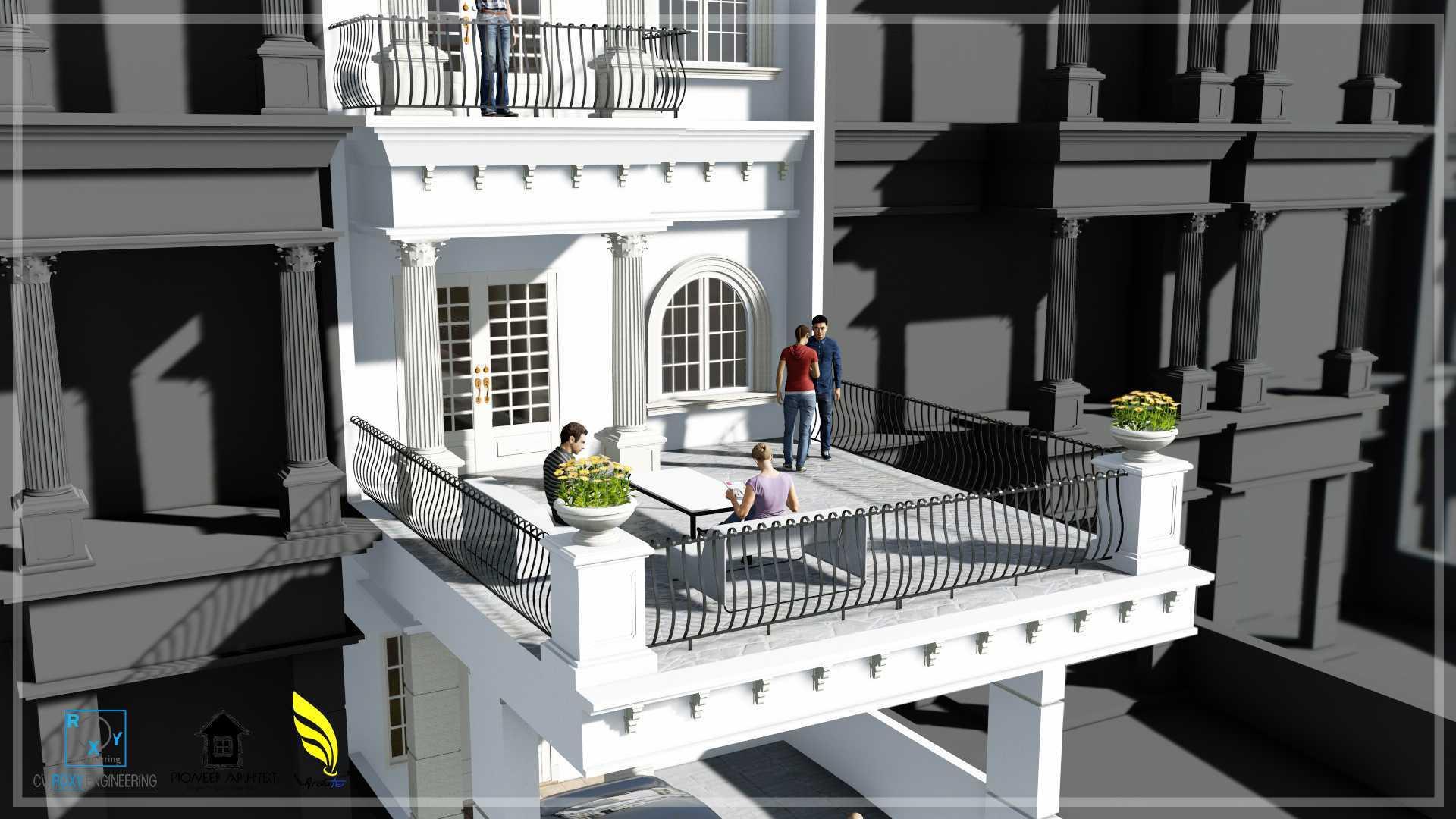 Pionner Architect Piazza House Renovation Kota Medan, Sumatera Utara, Indonesia Kota Medan, Sumatera Utara, Indonesia Balcony Classic  43299