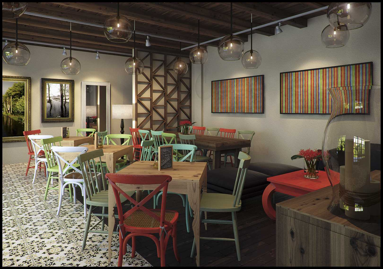 Design Archade Basilia Cafe Semarang, Kota Semarang, Jawa Tengah, Indonesia Semarang, Kota Semarang, Jawa Tengah, Indonesia Seating Area Restaurant Kontemporer  43567