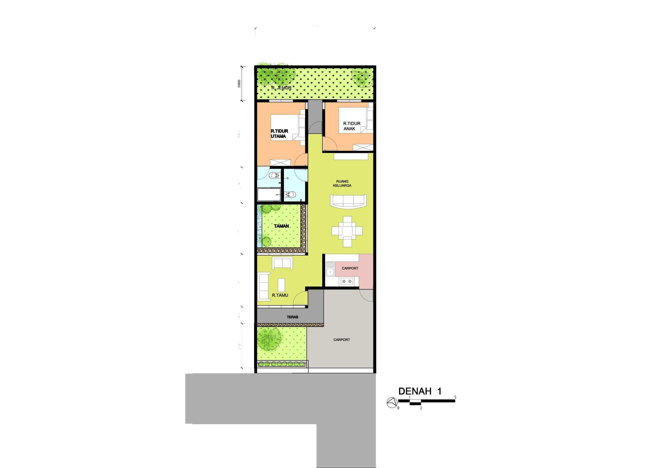 Yulius Gilang Architecture Design Studio Rumah Keruing  Semarang, Kota Semarang, Jawa Tengah, Indonesia Semarang, Kota Semarang, Jawa Tengah, Indonesia Siteplan   47309