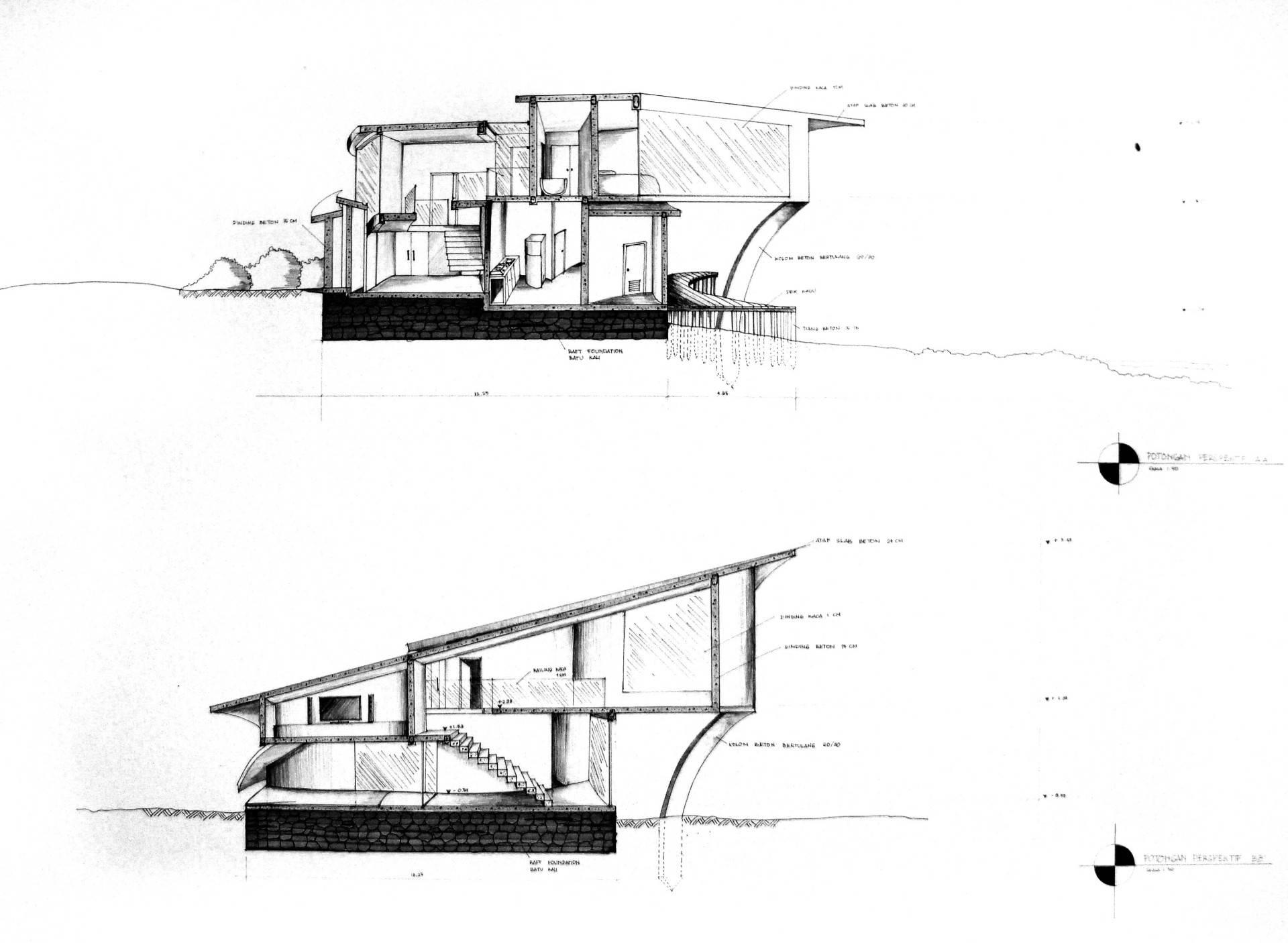 Evan Kriswandi An Artist's House Carita Beach Carita Beach Potongan-Perspektif1   872