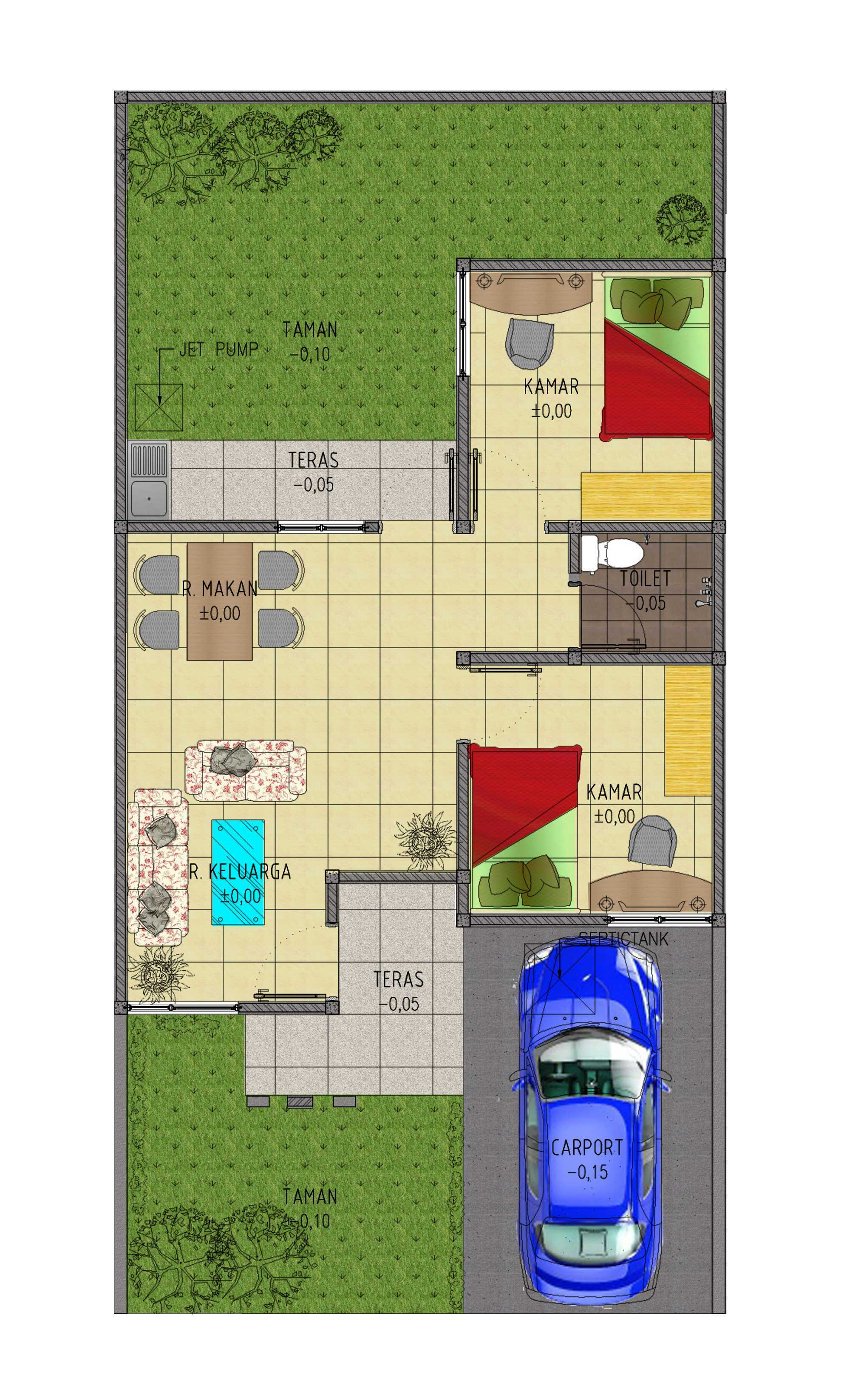 Gubah Ruang Studio B Residence Jakarta, Daerah Khusus Ibukota Jakarta, Indonesia Jakarta, Daerah Khusus Ibukota Jakarta, Indonesia Floorplan   50700