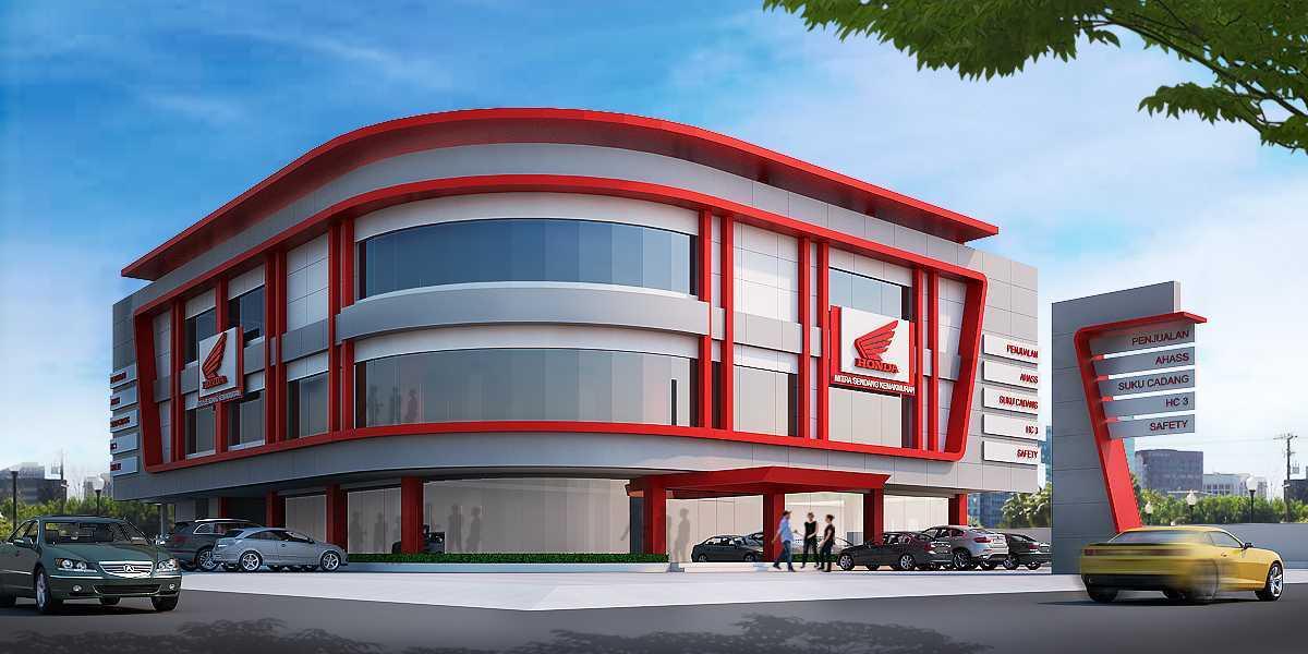 Gubah Ruang Studio Honda Msk Showroom Serang, Banten, Indonesia Serang, Banten, Indonesia Exterior View Industrial  50847