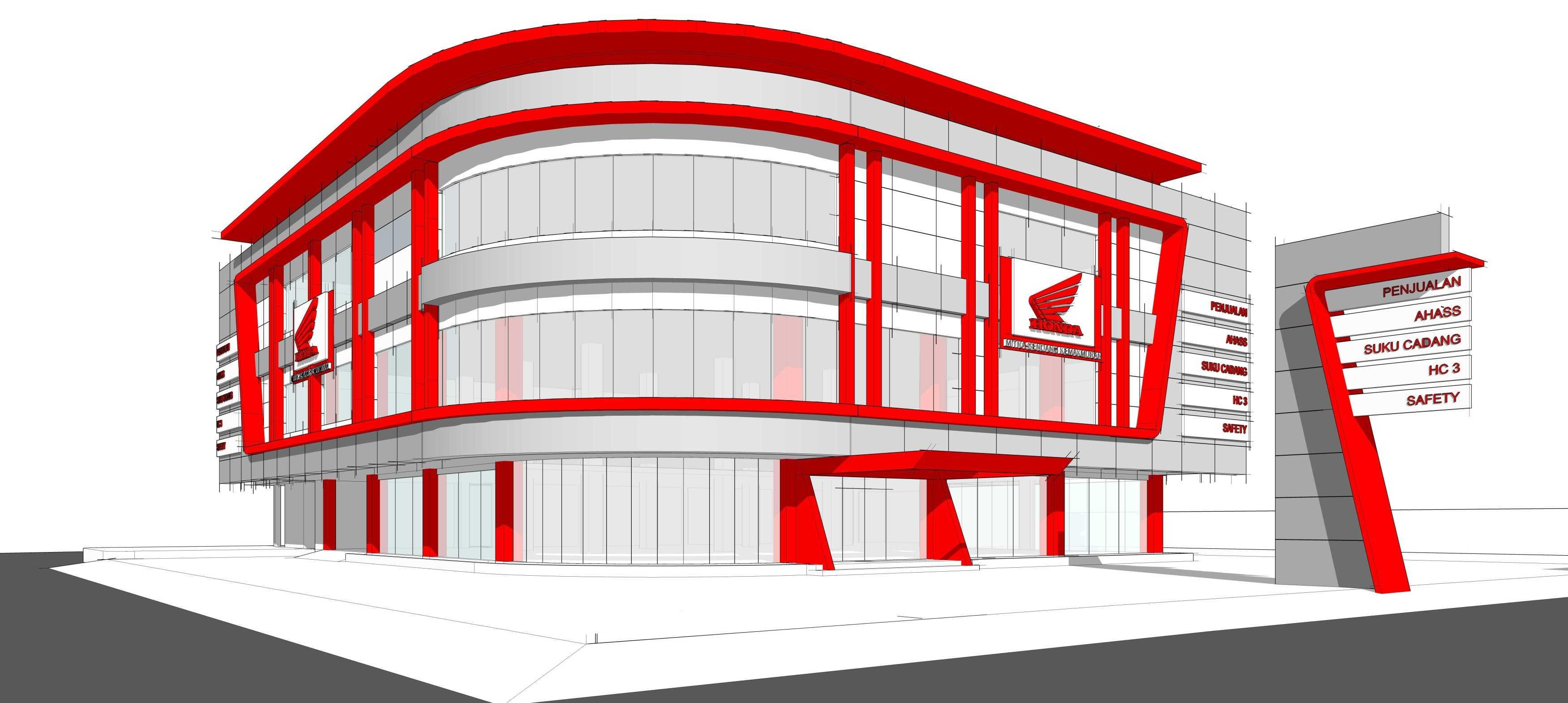 Gubah Ruang Studio Honda Msk Showroom Serang, Banten, Indonesia Serang, Banten, Indonesia Exterior View   50848