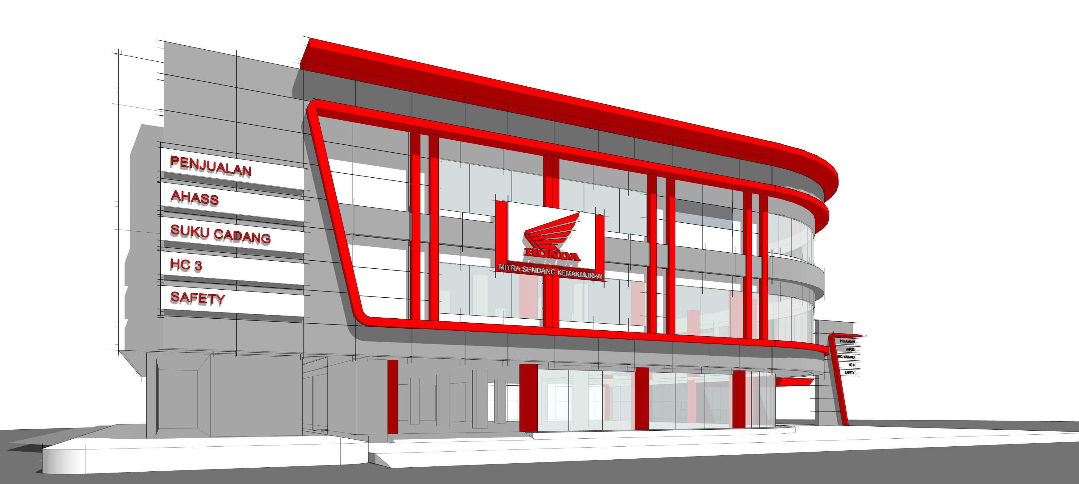 Gubah Ruang Honda Msk Showroom Serang, Banten, Indonesia Serang, Banten, Indonesia Exterior View   50849
