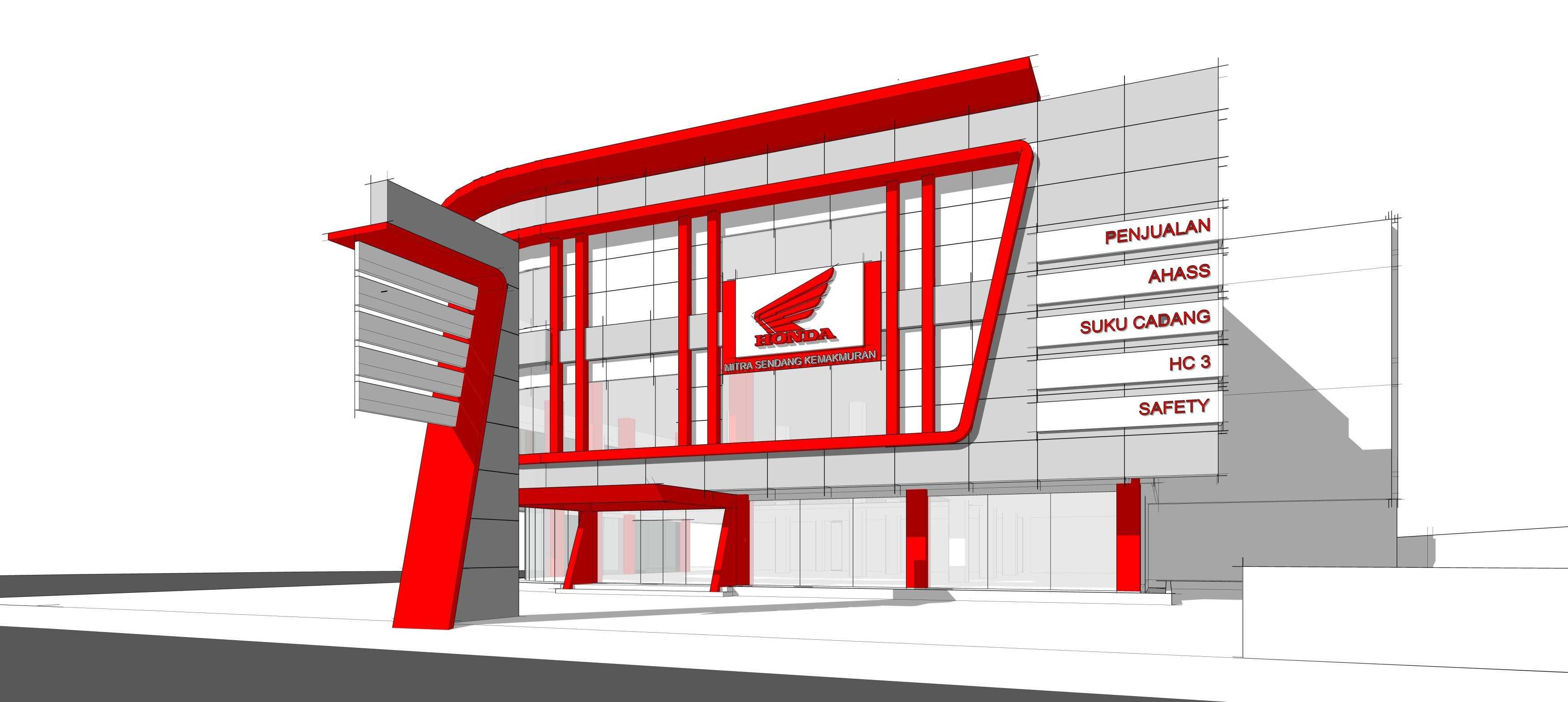 Gubah Ruang Studio Honda Msk Showroom Serang, Banten, Indonesia Serang, Banten, Indonesia Exterior View   50850