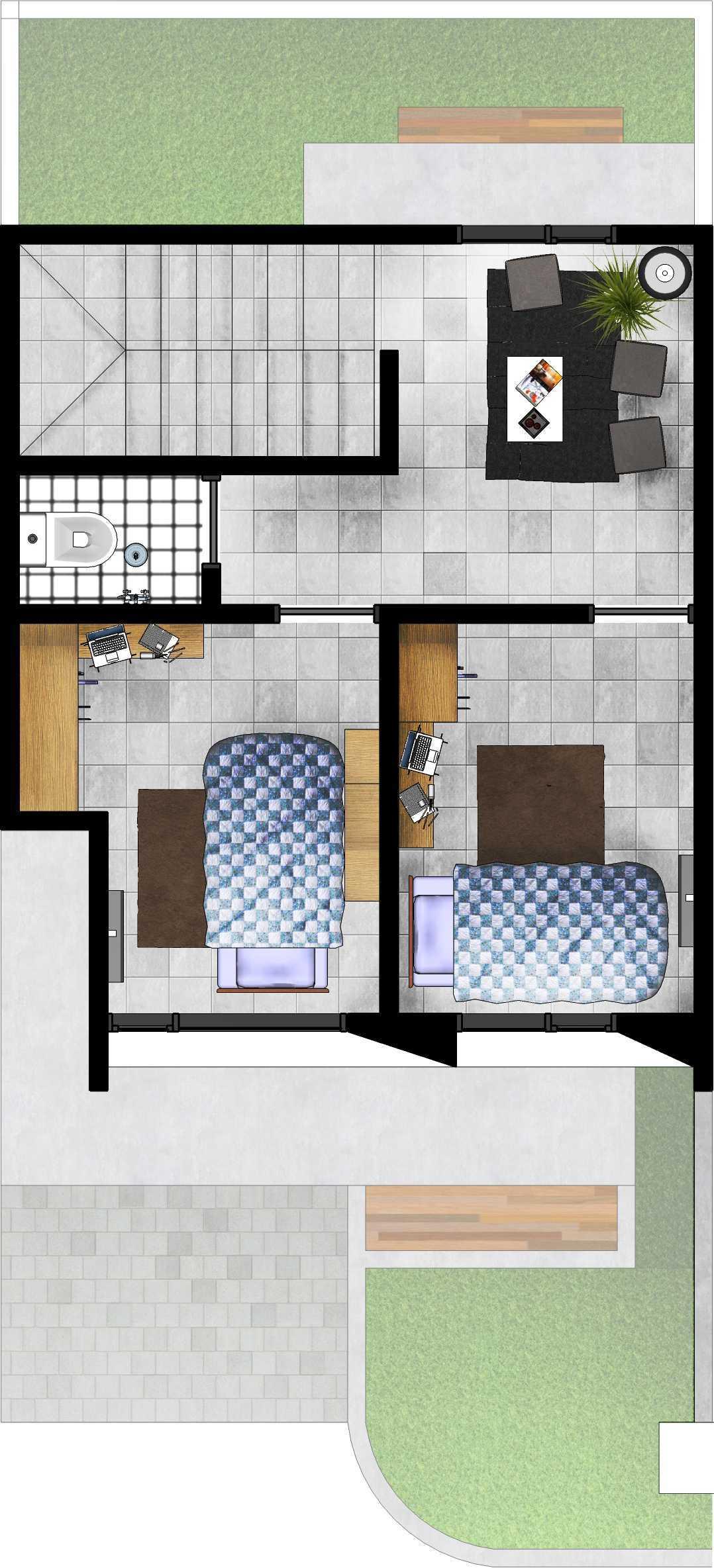 Gubah Ruang Studio Drn Residence Palembang, Kota Palembang, Sumatera Selatan, Indonesia Palembang, Kota Palembang, Sumatera Selatan, Indonesia Floorplan   50965