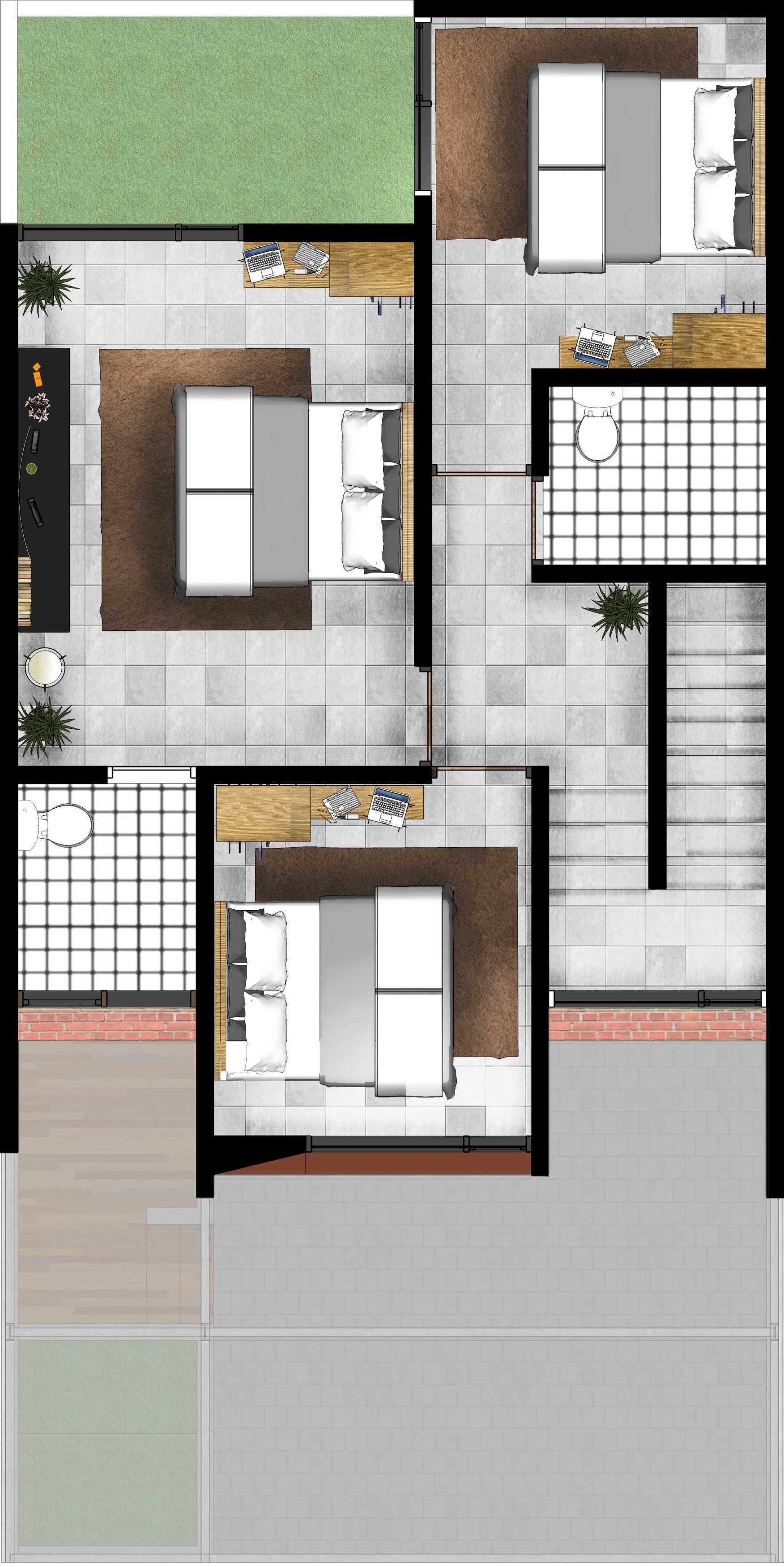 Gubah Ruang Studio Drn Residence Palembang, Kota Palembang, Sumatera Selatan, Indonesia Palembang, Kota Palembang, Sumatera Selatan, Indonesia Floorplan   50967