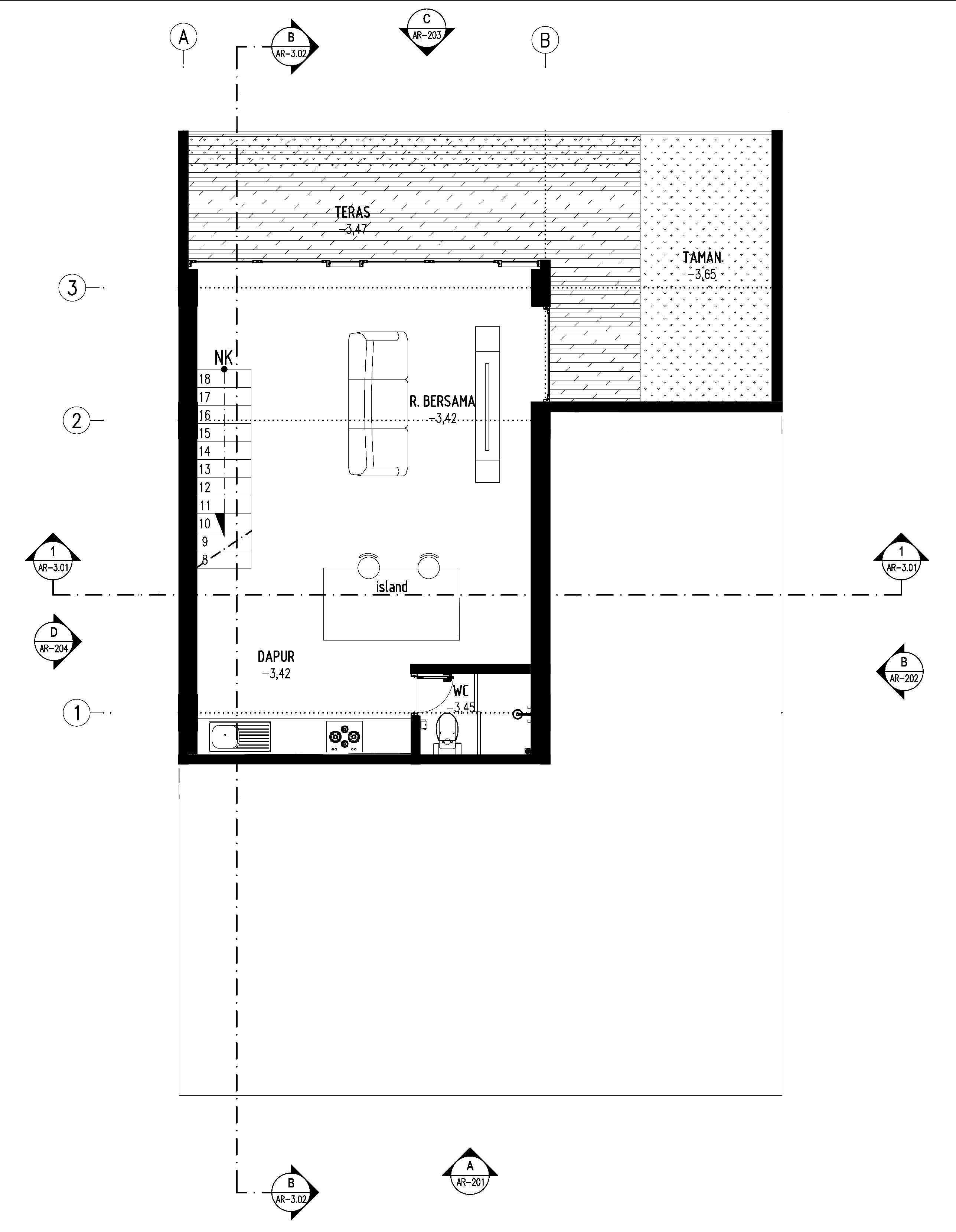 Gubah Ruang D-House Lembang, Kabupaten Bandung Barat, Jawa Barat, Indonesia Lembang, Kabupaten Bandung Barat, Jawa Barat, Indonesia Floorplan   50985