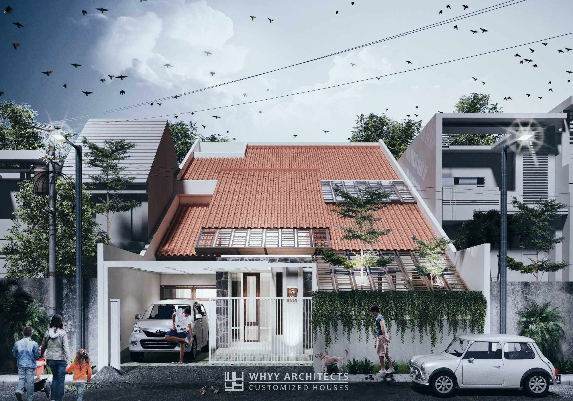 Whyy Architects Ac House Pulo Gebang, Cakung, Kota Jakarta Timur, Daerah Khusus Ibukota Jakarta, Indonesia Pulo Gebang, Cakung, Kota Jakarta Timur, Daerah Khusus Ibukota Jakarta, Indonesia Front View Rendering Tropical  48678