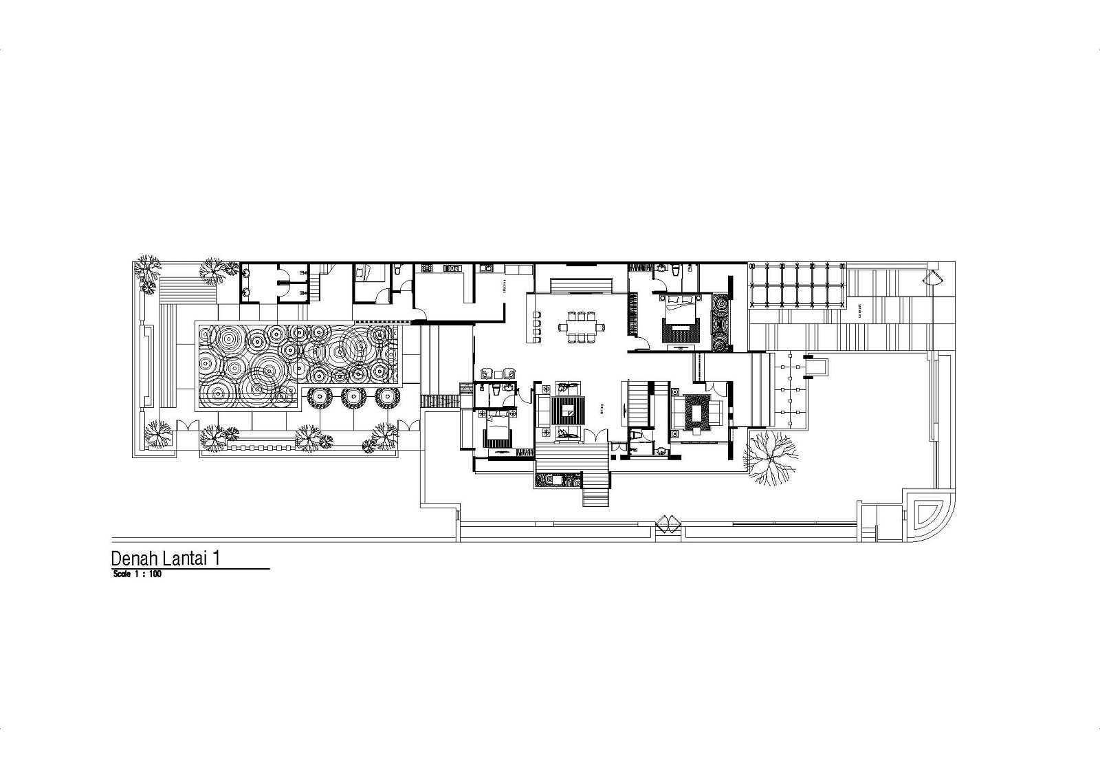 Satuvista Architect Rumah Tropis Hook Kabupaten Jombang, Jawa Timur, Indonesia Jawa Timur, Indonesia Floorplan 1St Floor Tropical  48707