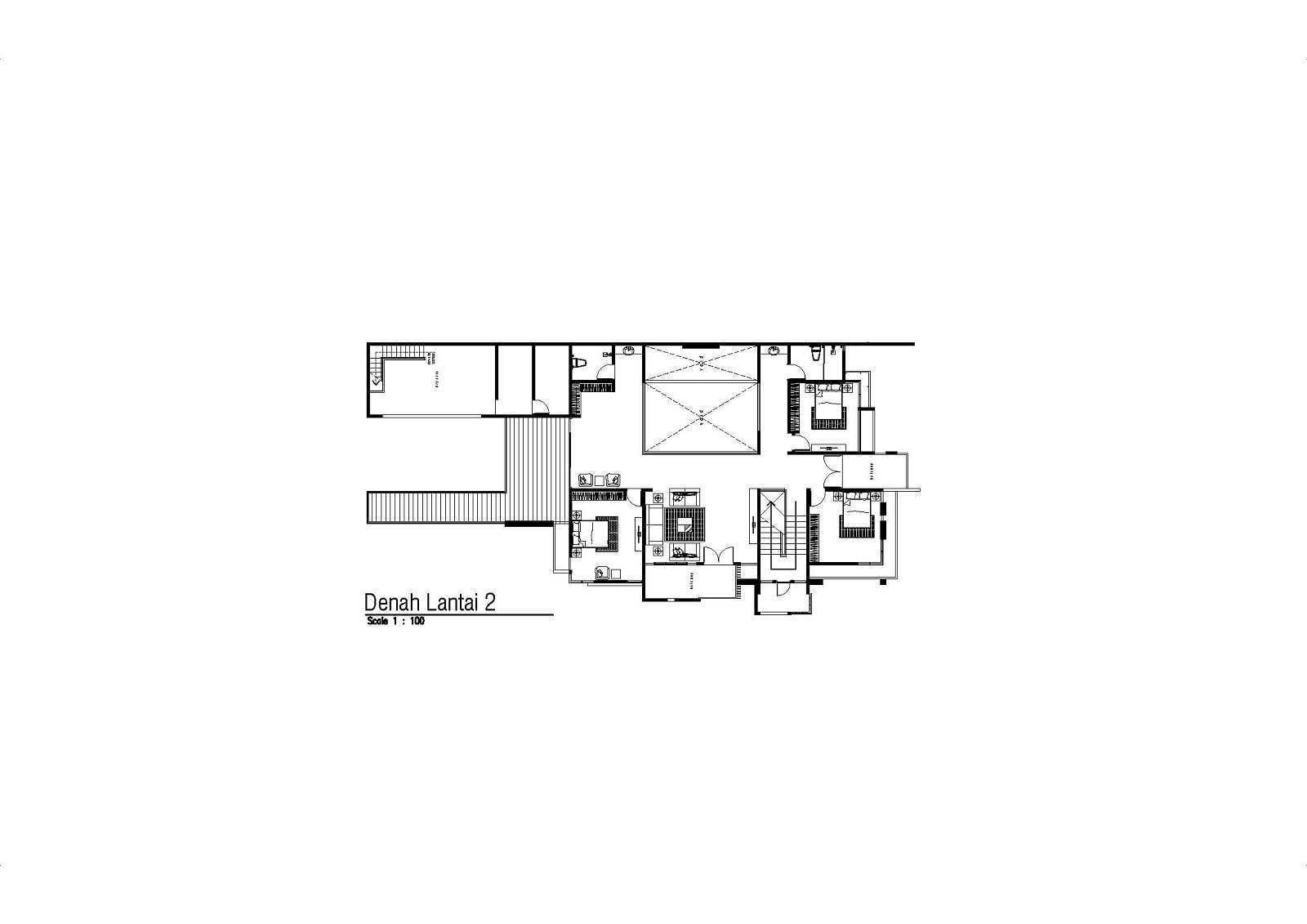 Satuvista Architect Rumah Tropis Hook Kabupaten Jombang, Jawa Timur, Indonesia Jawa Timur, Indonesia Floorplan 2Nd Floor   48708