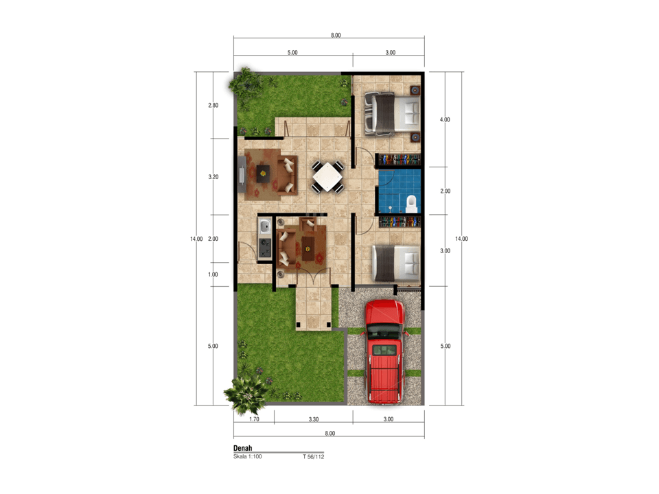 Satuvista Architect Taman Beverly Residence  Samarinda, Kota Samarinda, Kalimantan Timur, Indonesia Samarinda, Kota Samarinda, Kalimantan Timur, Indonesia Floorplan Minimalis  50520