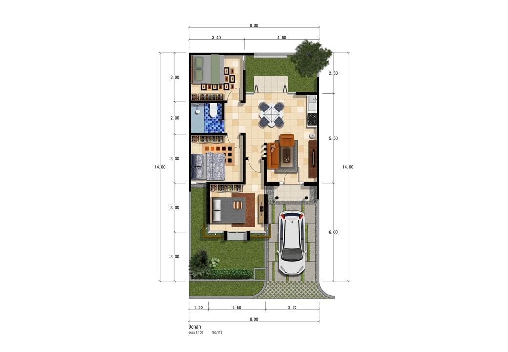 Satuvista Architect Patra Garden Residence  Malang, Kota Malang, Jawa Timur, Indonesia Malang, Kota Malang, Jawa Timur, Indonesia Floorplan Tropical <P>Denah T 65</p> 50579