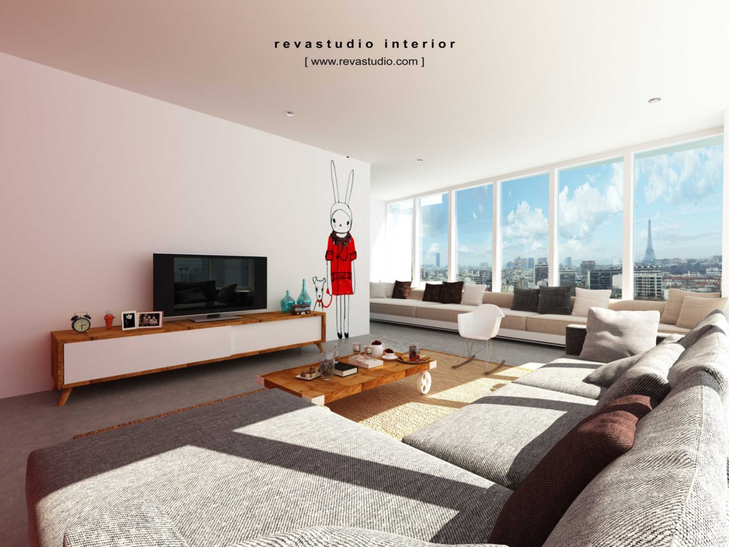 Revano Satria Red Lapin Apartment Jakarta, Indonesia Jakarta, Indonesia Livingroom   15542