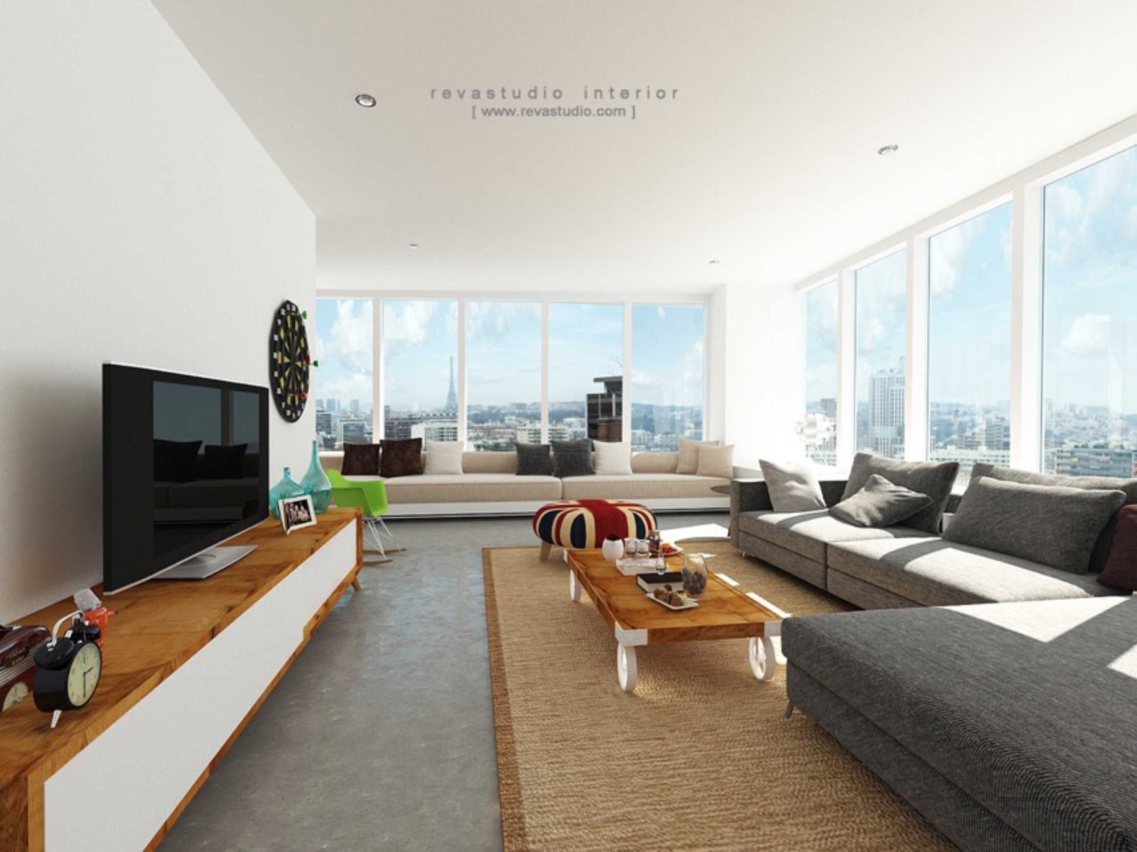 Revano Satria Red Lapin Apartment Jakarta, Indonesia Jakarta, Indonesia Livingroom-2   15544