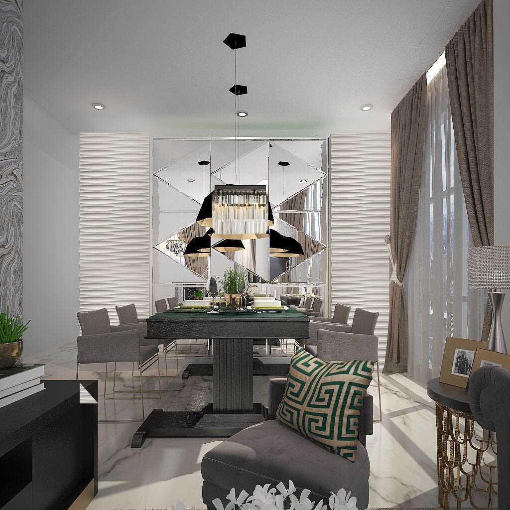 Ky Interior Design Sommerset Apartment Jakarta Selatan, Kota Jakarta Selatan, Daerah Khusus Ibukota Jakarta, Indonesia Jakarta Selatan, Kota Jakarta Selatan, Daerah Khusus Ibukota Jakarta, Indonesia Dining Room Contemporary  48920