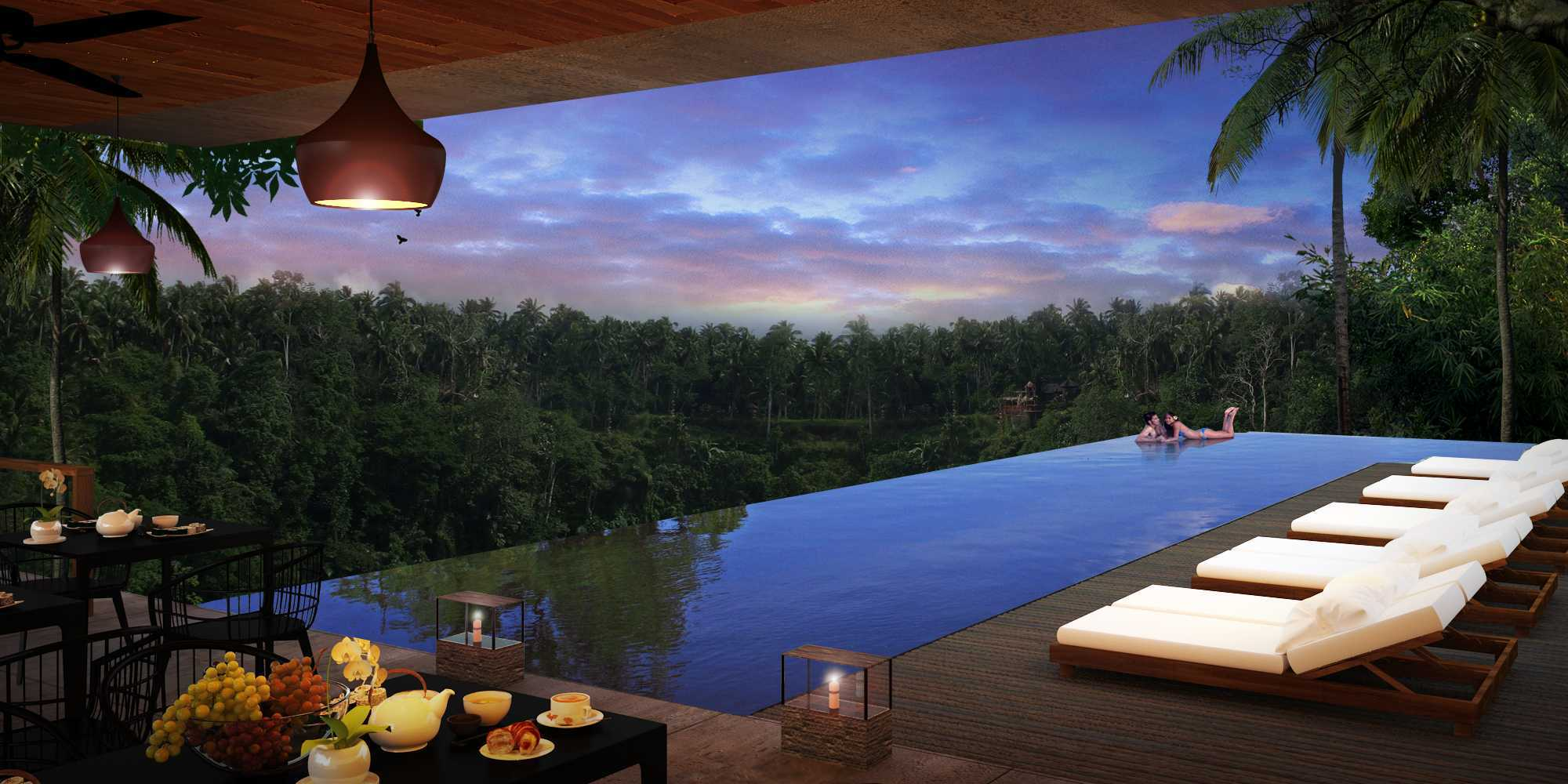 Made Dharmendra Architect Bisma Resort Ubud, Kabupaten Gianyar, Bali, Indonesia Ubud, Kabupaten Gianyar, Bali, Indonesia Swimming Pool View Kontemporer  49495