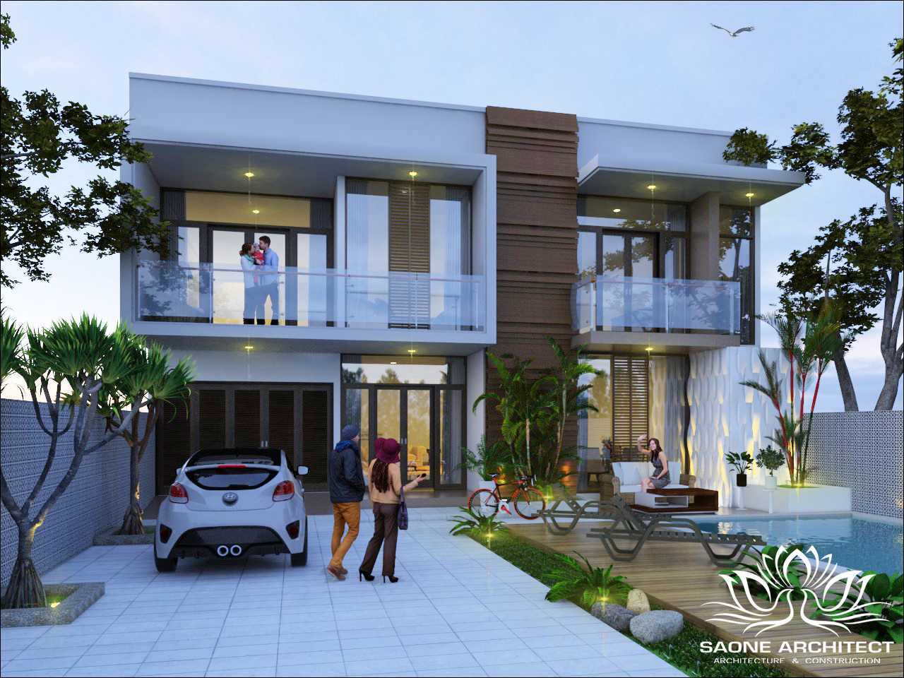 Saone Architect Private Villa Jimbaran Bali Jimbaran, Kuta Sel., Kabupaten Badung, Bali, Indonesia Jimbaran, Kuta Sel., Kabupaten Badung, Bali, Indonesia Exterior View Tropis  49724