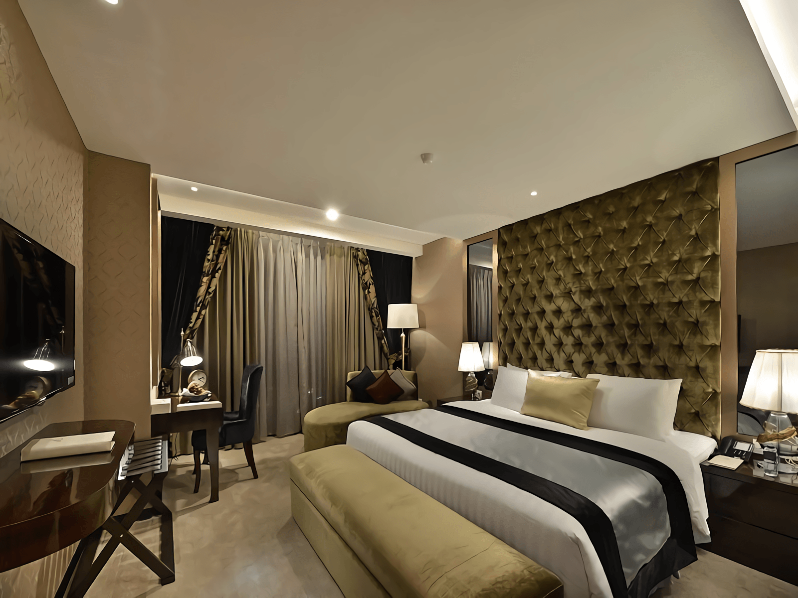 Pensil Desain Hotel Amaroossa Grande Bekasi, Tambelang, Bekasi, Jawa Barat, Indonesia Bekasi, Tambelang, Bekasi, Jawa Barat, Indonesia Bedroom View Modern  50215