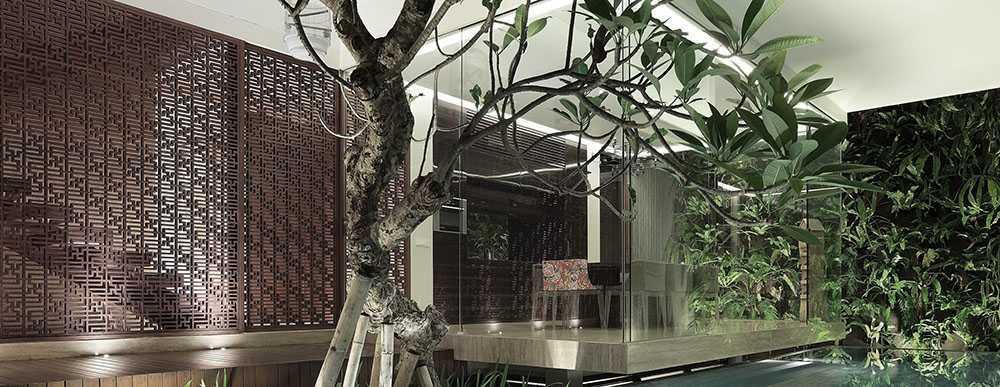 Studiokas S+H House Jakarta, Daerah Khusus Ibukota Jakarta, Indonesia  Interior View Tropis <P>Ruang Makan + Kolam Renang</p> 50301