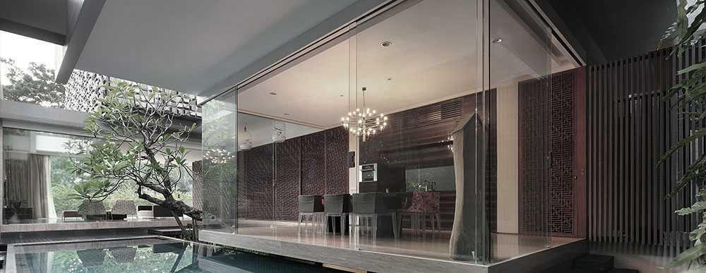 Studiokas S+H House Jakarta, Daerah Khusus Ibukota Jakarta, Indonesia  Exterior View Tropis <P>Ruang Makan + Kolam Renang</p> 50302
