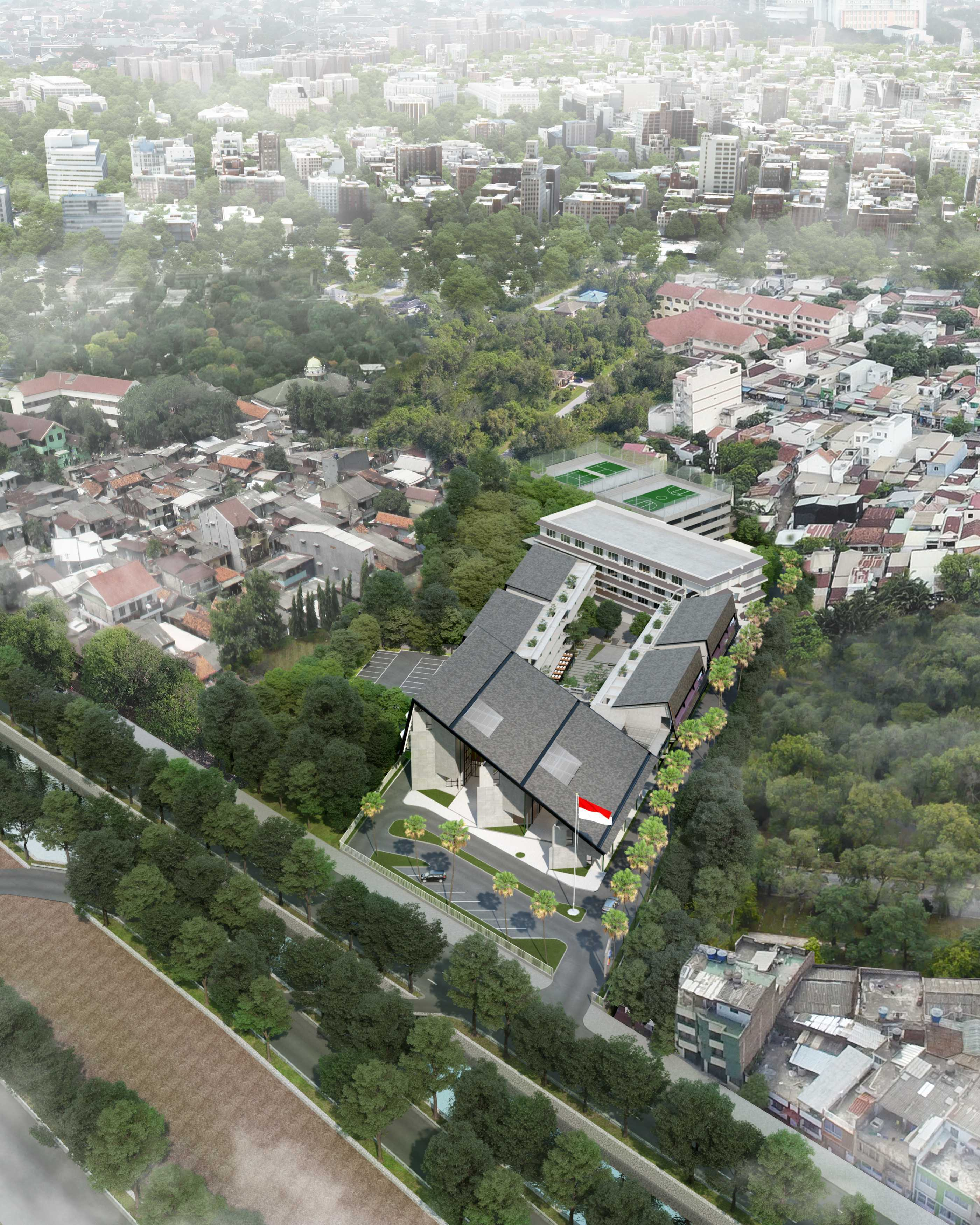 Pt. Urbane Indonesia Iisip Campus Jakarta, Daerah Khusus Ibukota Jakarta, Indonesia Jakarta, Daerah Khusus Ibukota Jakarta, Indonesia Bird Eye View Kontemporer  52795