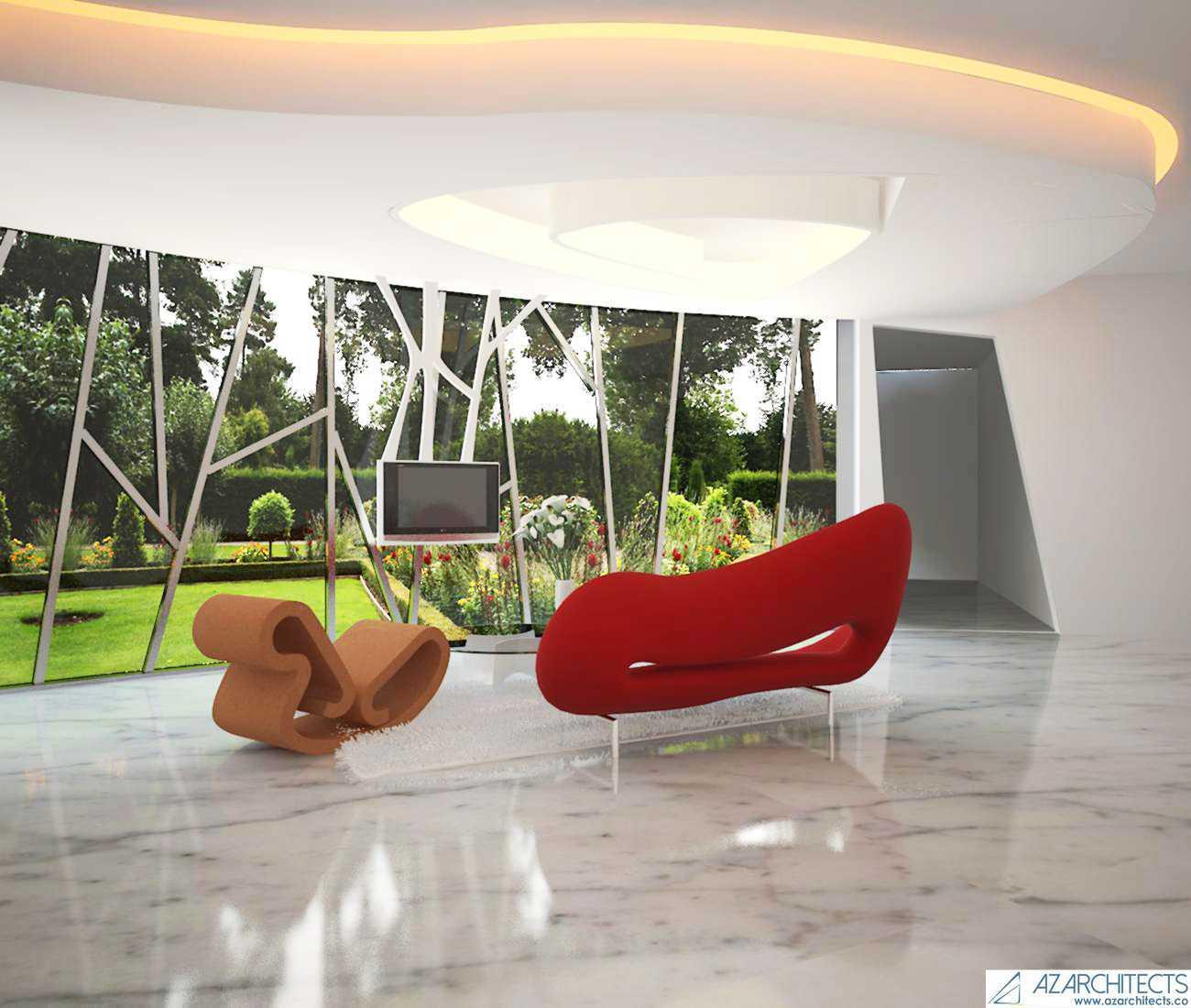 Az Architects Futuristic House Indonesia Indonesia Interior View Modern  53804