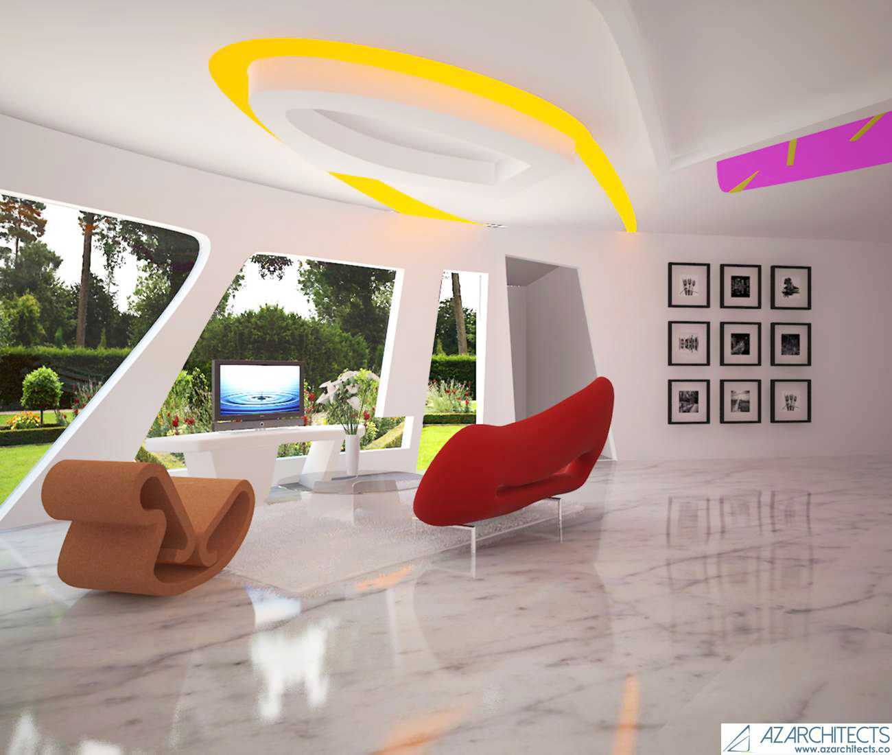 Az Architects Futuristic House Indonesia Indonesia Interior View  <P>Alternative 1</p> 53805