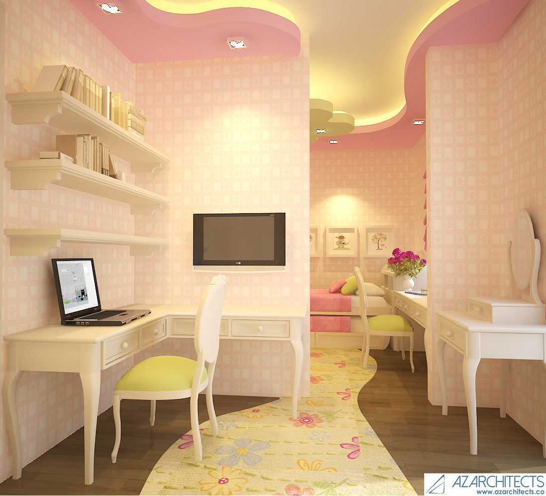 Az Architects Girls Bedroom Indonesia Indonesia Study Room   53812