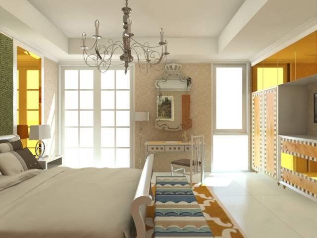Vaastu Studio Living Room & Master Bedroom At The Sudirman Residence Jakarta Jakarta Master Bedroom  2038
