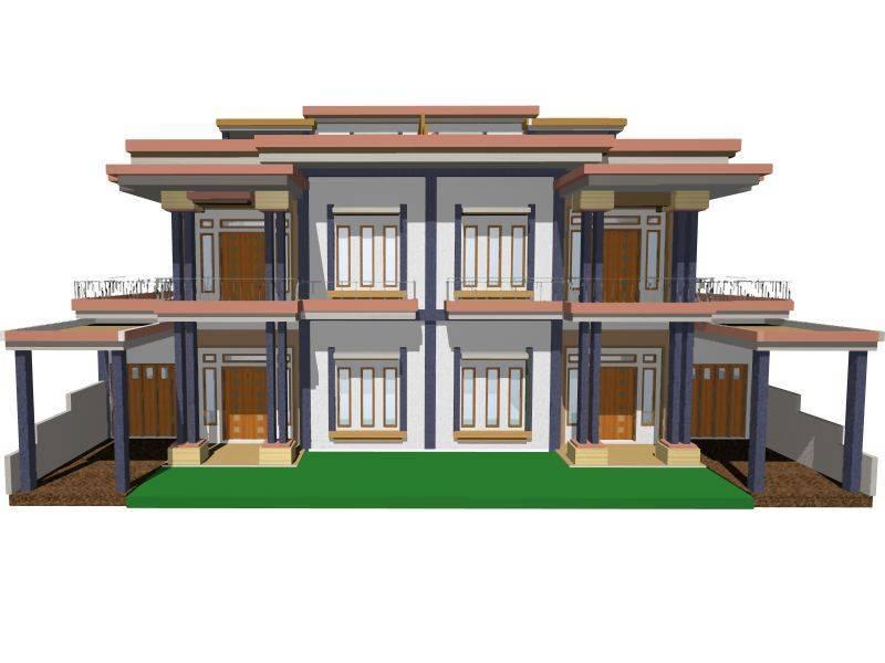 Karunia Design Arsitektur House At Pondok Indah Lestari Pontianak Pontianak Front View  1509