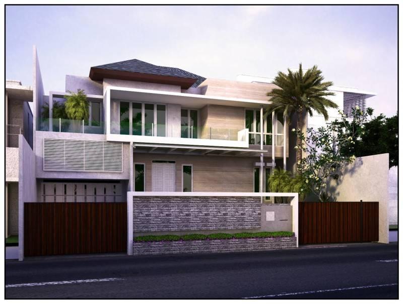 Karunia Design Arsitektur House At Jl. Sumatera Pontianak Pontianak Front View  1511