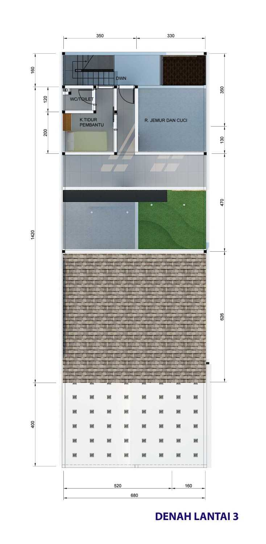 Archdesignbuild7 Project Rumah Tinggal 3 Lt Antapani , Bandung Antapani , Bandung Denah-Lantai-3  13421