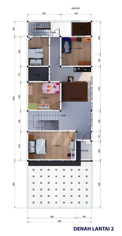Archdesignbuild7 Project Rumah Tinggal 3 Lt Antapani , Bandung Antapani , Bandung Denah-Lantai-2  13422