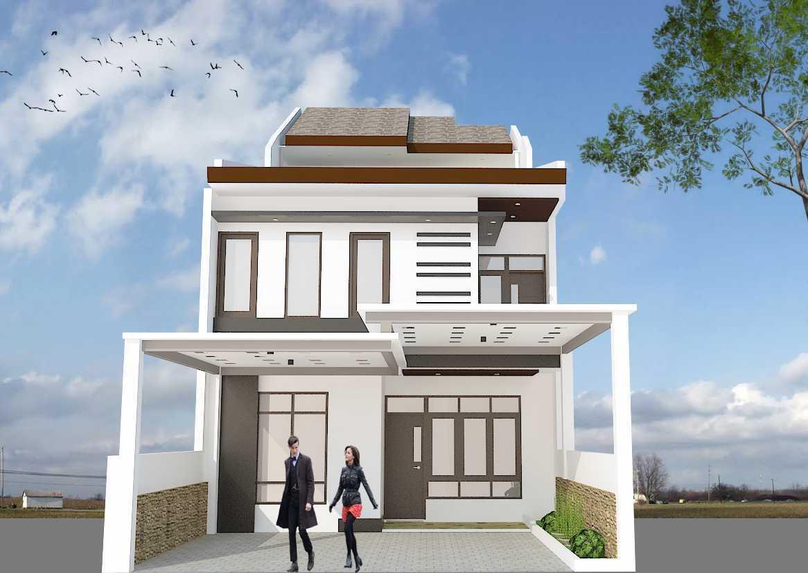 Archdesignbuild7 Project Rumah Tinggal 3 Lt Antapani , Bandung Antapani , Bandung Front View Minimalis 13425