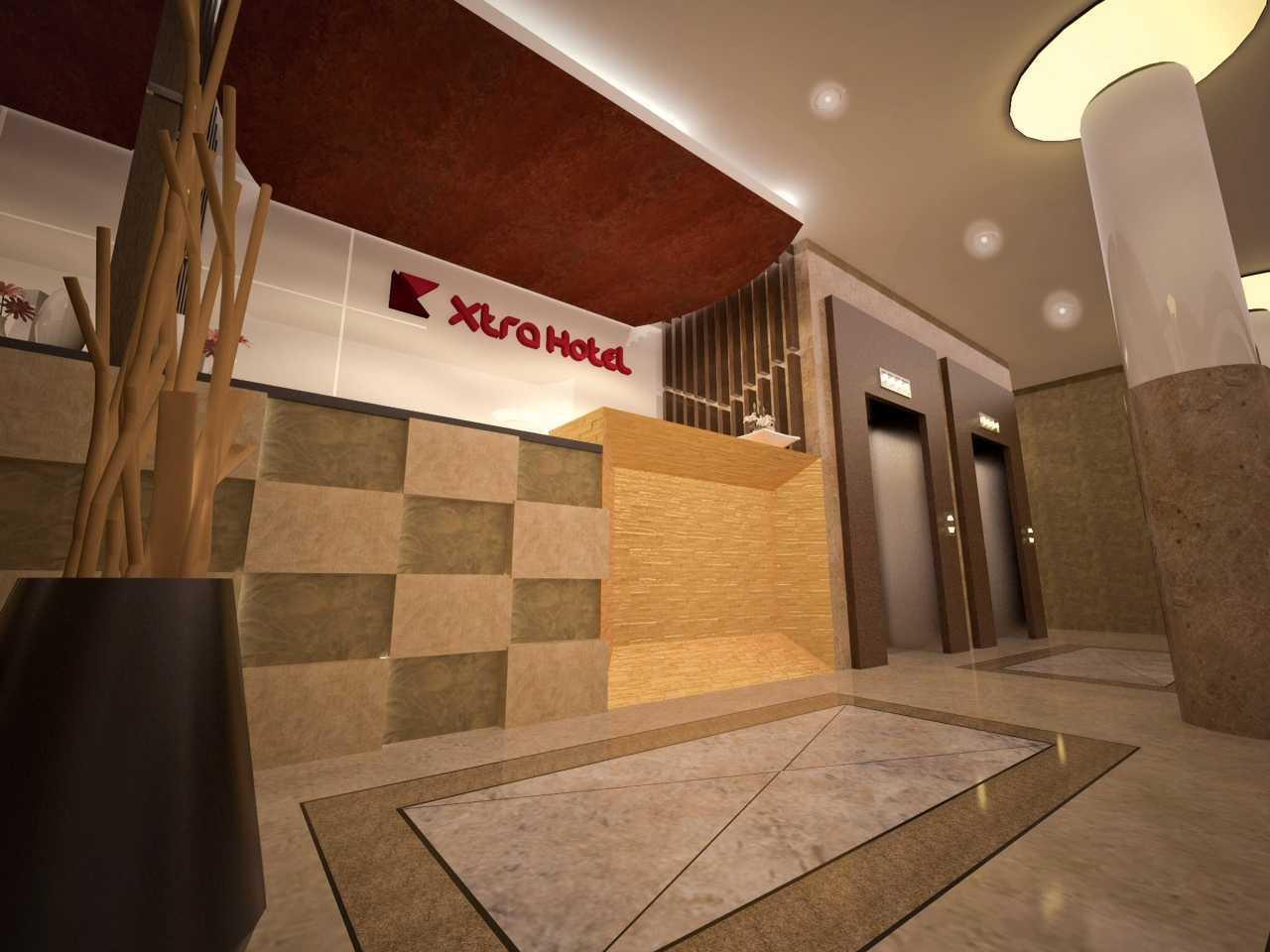 Archdesignbuild7 Pengembangan Hotel Xtra   Jl. Mayjen Sutoyo No.31, Tanah Patah, Ratu Agung, Kota Bengkulu, Bengkulu   Jl. Mayjen Sutoyo No.31, Tanah Patah, Ratu Agung, Kota Bengkulu, Bengkulu  Lift Lobby Modern 19046