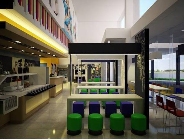 Bk Architects Ibis Budget Hotel At Karawaci Tangerang Tangerang Dining Area  1527