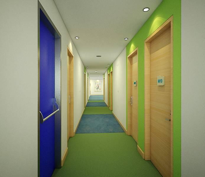 Bk Architects Ibis Budget Hotel At Karawaci Tangerang Tangerang Room Corridor  1537