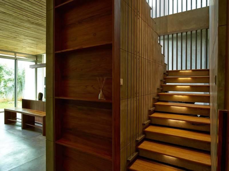 Raw Architecture Bare Minimalist Jakarta, Indonesia Jakarta, Indonesia Wooden Staircase  1524