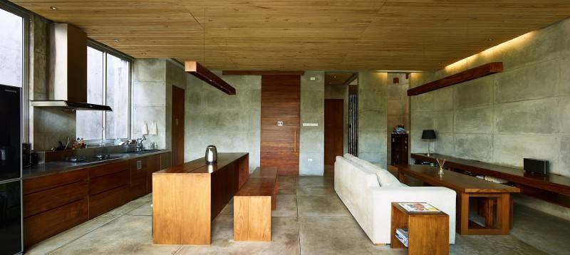 Foto inspirasi ide desain dapur Living room oleh RAW Architecture di Arsitag