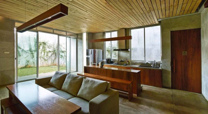 Raw Architecture Bare Minimalist Jakarta, Indonesia Jakarta, Indonesia Living Room  1552