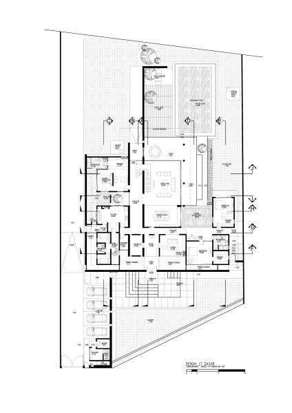 Raw Architecture Pangkalan Jati House Pangkalan Jati, Jakarta, Indonesia Pangkalan Jati, Jakarta, Indonesia Ground Floor Plan Kontemporer 1575