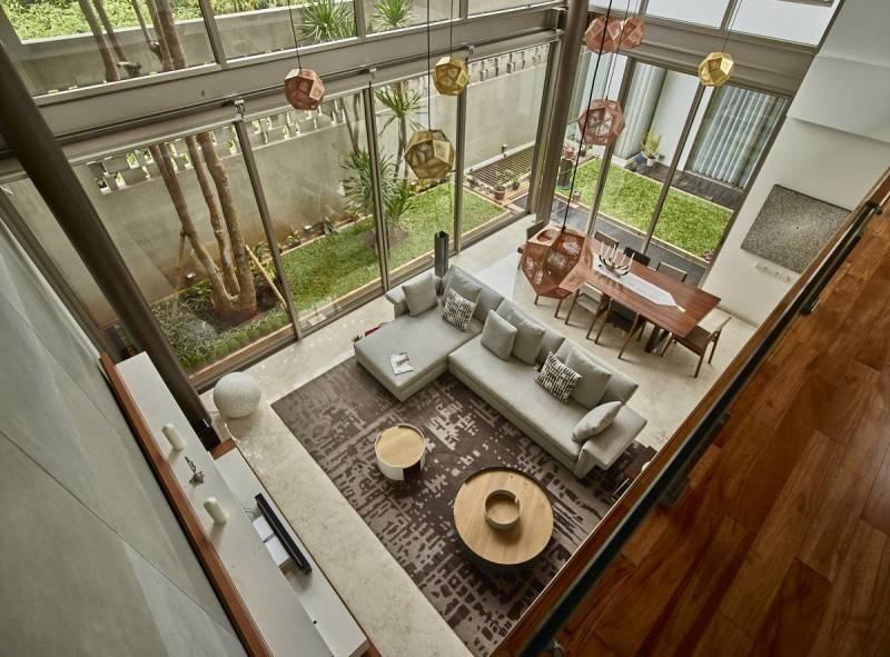 Raw Architecture Kembang Murni House West Jakarta, Indonesia West Jakarta, Indonesia Living Room  1590