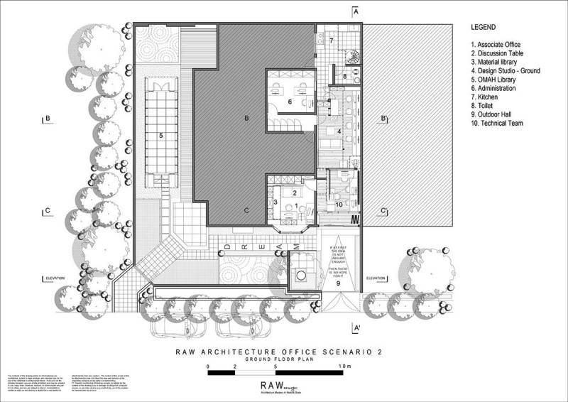 Raw Architecture Raw Office 2Nd St Pulau Ayer 1 Permata Buana, Jakarta 2Nd St Pulau Ayer 1 Permata Buana, Jakarta Floorplan  1617