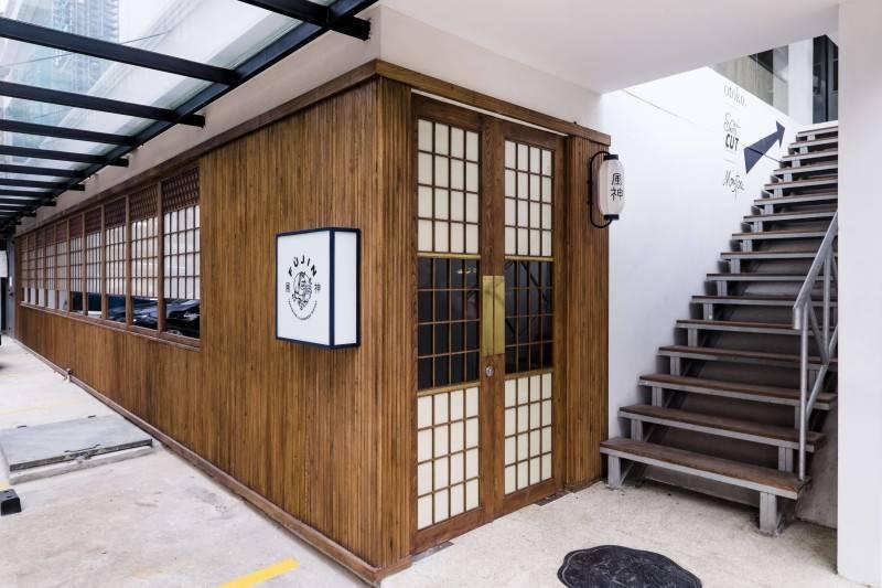 Foto inspirasi ide desain restoran asian Front view oleh Bitte Design Studio di Arsitag