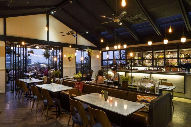 Bitte Design Studio Hause Rooftop At Setiabudi Jakarta, Indonesia Jakarta, Indonesia Seating Area Interior View Modern,glass 1991