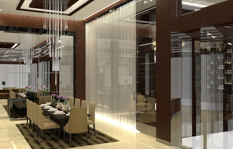 Foto inspirasi ide desain retail minimalis Dining room oleh TMS Creative di Arsitag