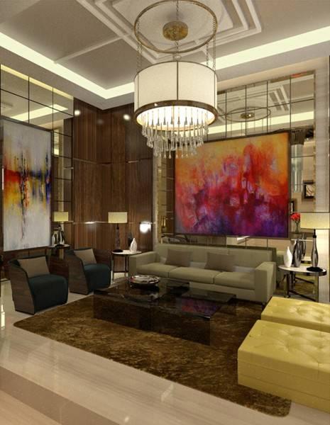 Foto inspirasi ide desain ruang keluarga modern Guest room oleh TMS Creative di Arsitag
