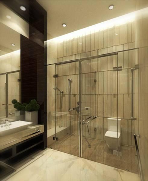 Foto inspirasi ide desain kamar mandi modern Bathroom oleh TMS Creative di Arsitag